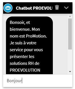 chatbot proevolution