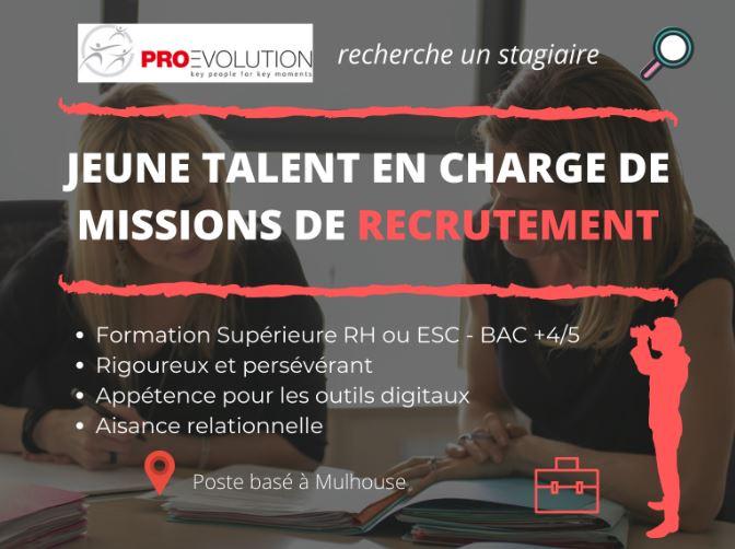 Recherche stagiaire talent en charge de missions de recrutement