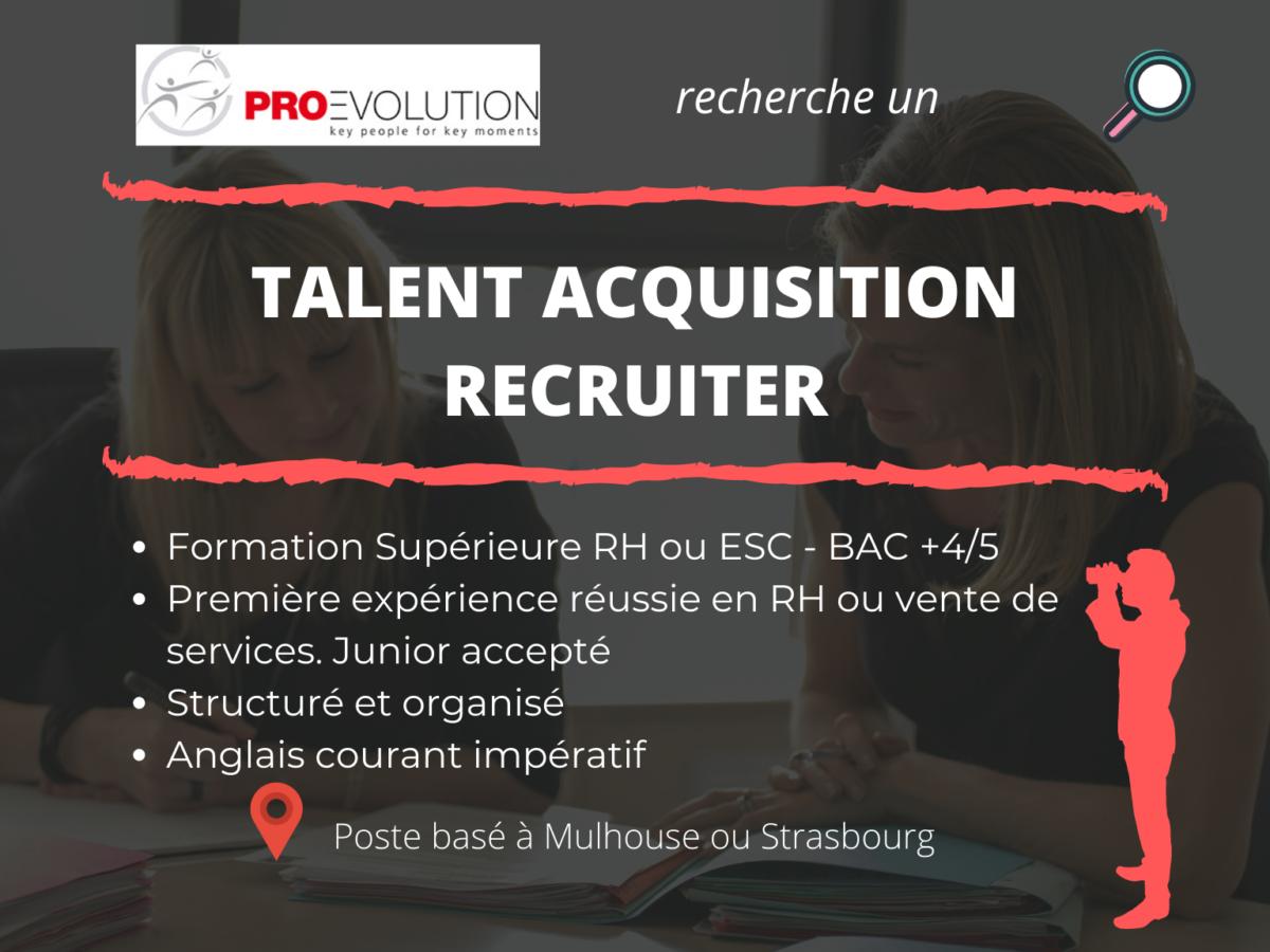 Recherche talent acquisition recruiter